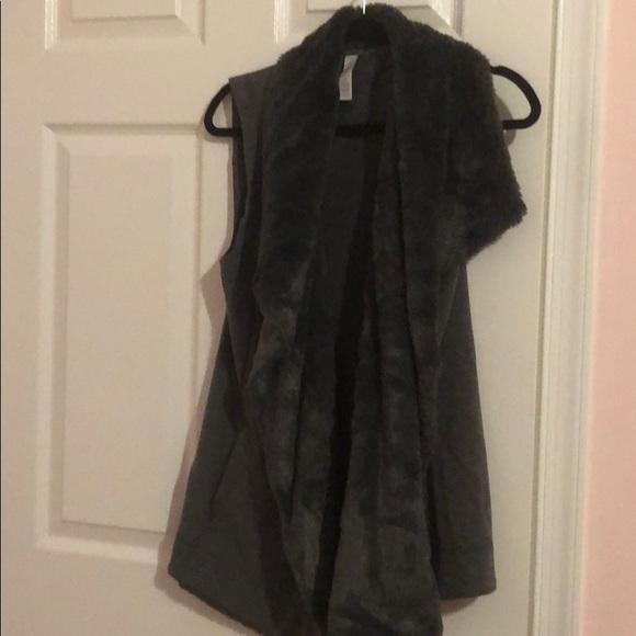 Ideology Jackets & Blazers - Faux Fur Lined Sweatshirt Vest